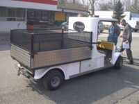 Hosszú platós elektromos jármű(vek) bérbeadók - 600 kg teherbírás